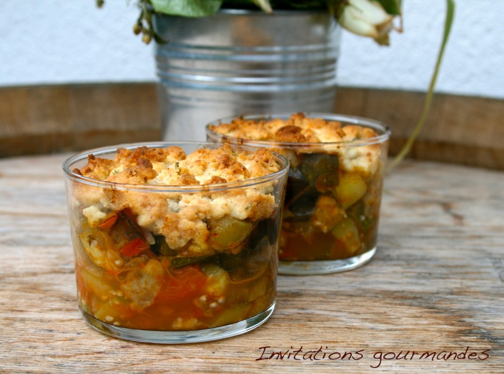 Crumble de l gumes d 39 t invitations gourmandes - Accompagnement sardines grillees barbecue ...