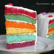 The rainbow cake ou le gâteau arc-en-ciel