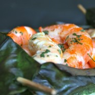 CREVETTES EN FEUILLES DE BANANIER