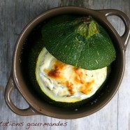 FARCI DE COURGETTE RICOTTA, BACON ET GRAINES DE TOURNESOL