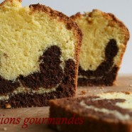LE MOUSTACHU OU LE CAKE MARBRE VANILLE-CHOCOLAT